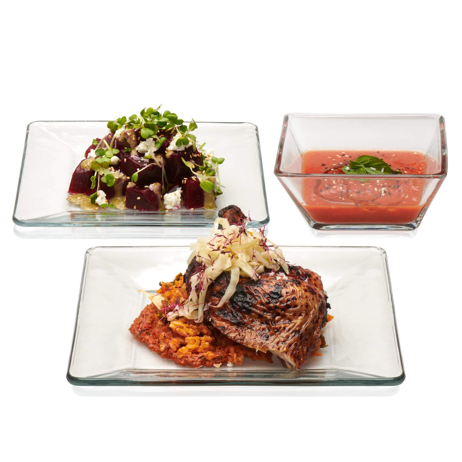 Libbey – Tempo 12-Piece Glass Dinnerware Set, Service for 4