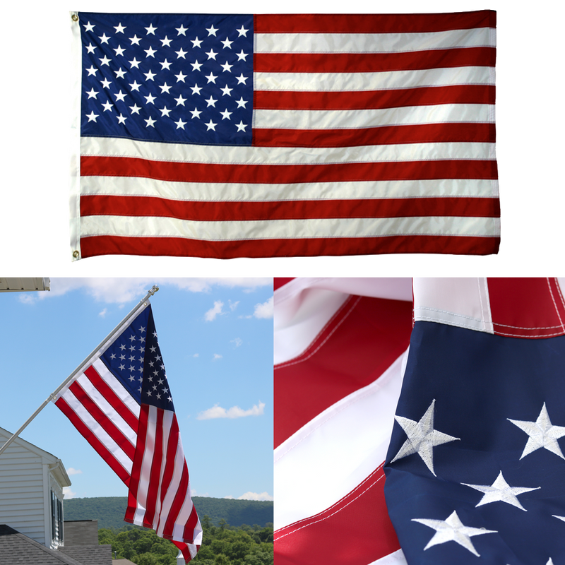 Warrior 12 – Embroidered American Flag