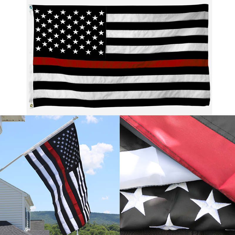 Warrior 12 – Embroidered Thin Red Line Flag
