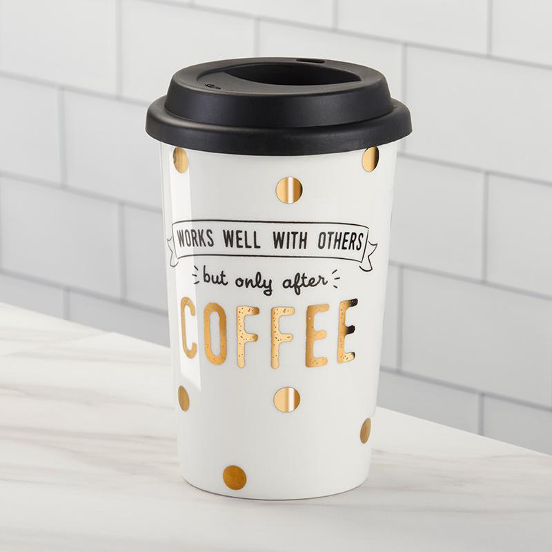 Kate Aspen – Works Well With Others 15 oz. Ceramic Travel Mug