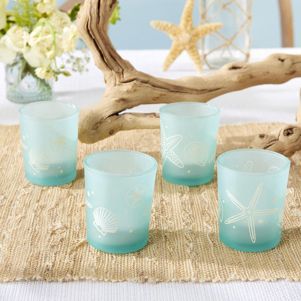 Kate Aspen – Beach Party Frosted Glass Votive (Set of 4)