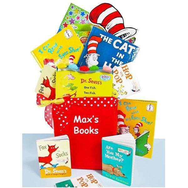 Corner Stork Baby Gifts – Personalized Dr. Seuss Library Gift Basket