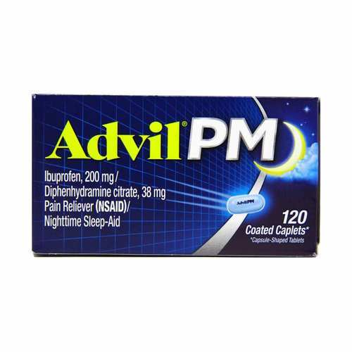 Advil PM Pain Reliever and Nighttime Sleep-Aid – 120 Coated Caplets