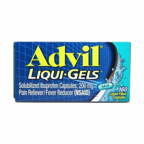 Advil Pain Reliever and Fever Reducer – 160 Liqui-Gels