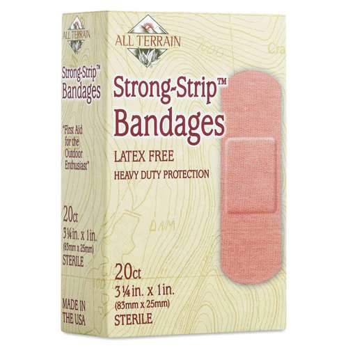All Terrain Bandages Waterproof Strong-Strip – 3.25in. x 1in. – 20 count