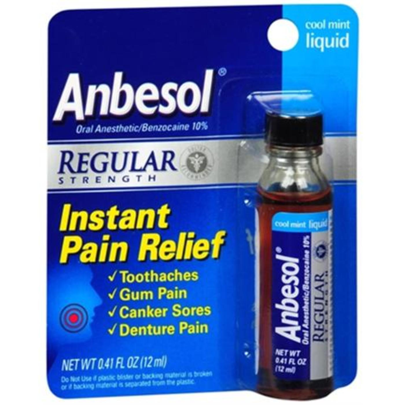 Anbesol Liquid Oral Pain Relief Cool Mint – 0.41 oz