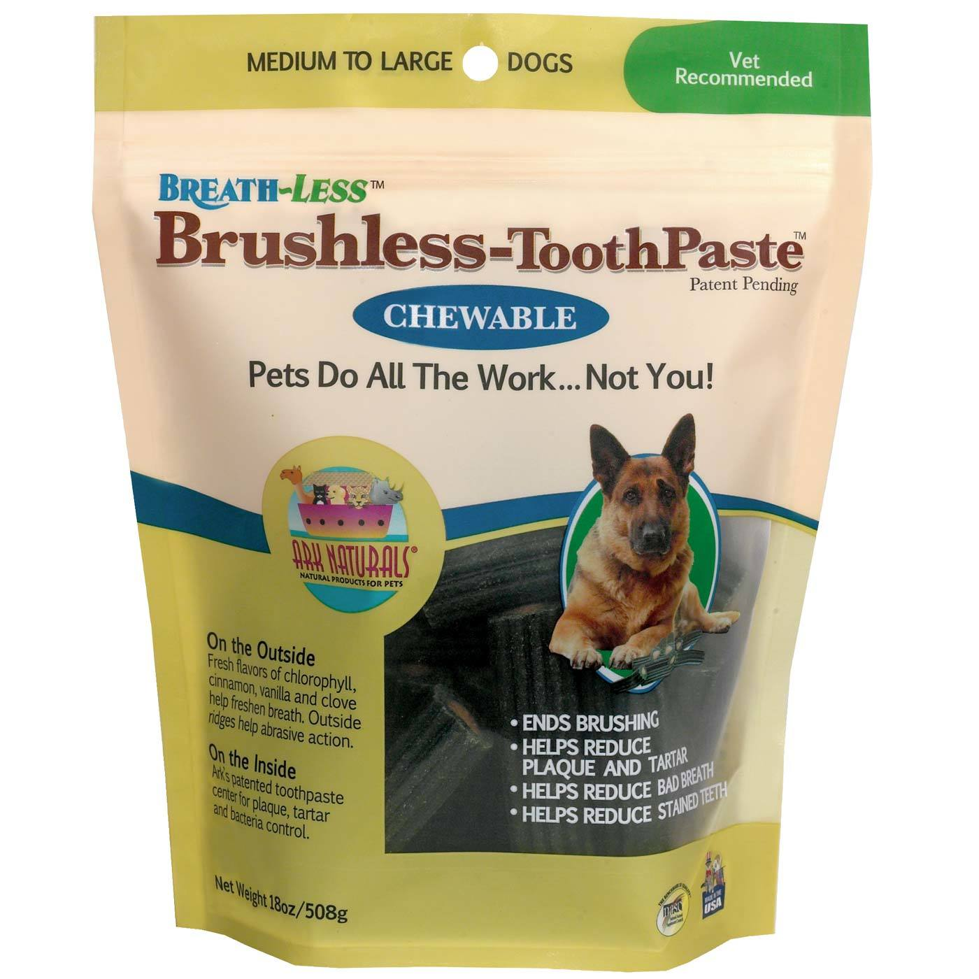 Ark Naturals Breath-less Brushless Toothpaste – Med to Large 18 oz