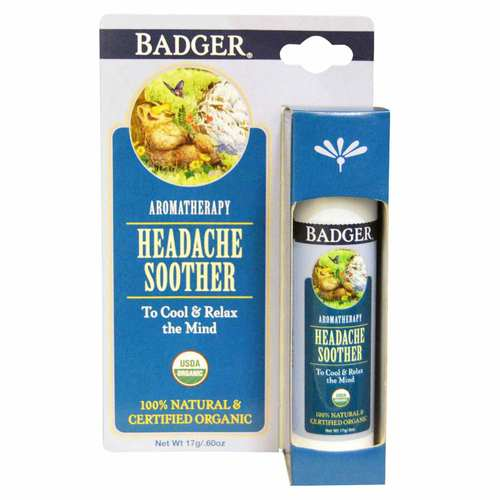Badger Headache Soother – Peppermint Lavender – .6 oz (17 g)