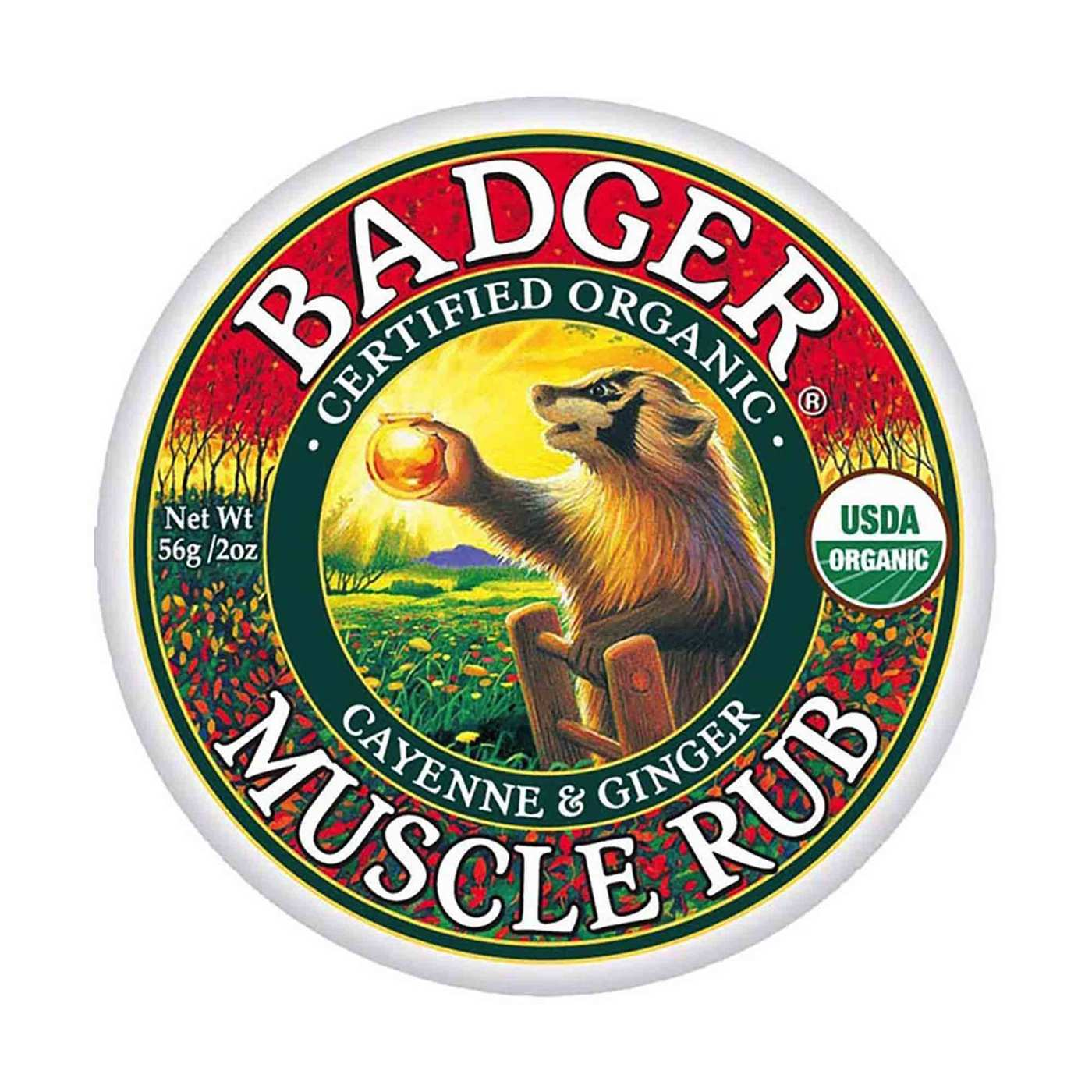 Badger Sore Muscle Rub – Cayenne Ginger – 2 oz (56 g)
