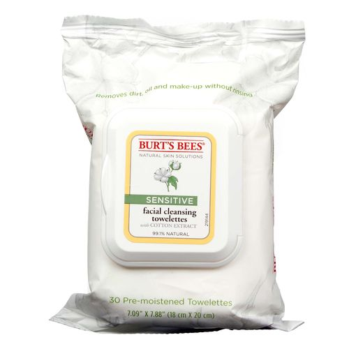 Burt's Bees Facial Cleaning Towelettes Sensitive – 30 Count