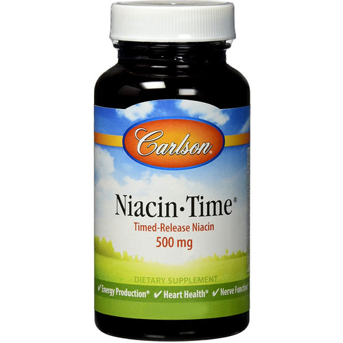 Carlson Labs Niacin-Time Timed Release – 500 mg – 250 Tablets