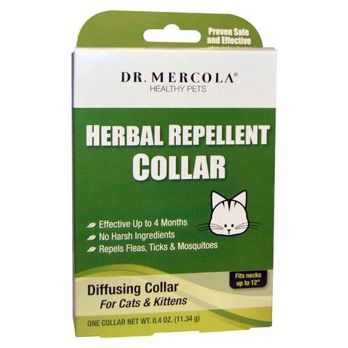 Dr. Mercola Herbal Repellent Collar For Cats Kittens – One Collar