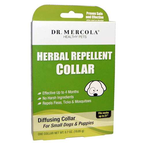 Dr. Mercola Herbal Repellent Collar For Small Dogs Puppies – One Collar