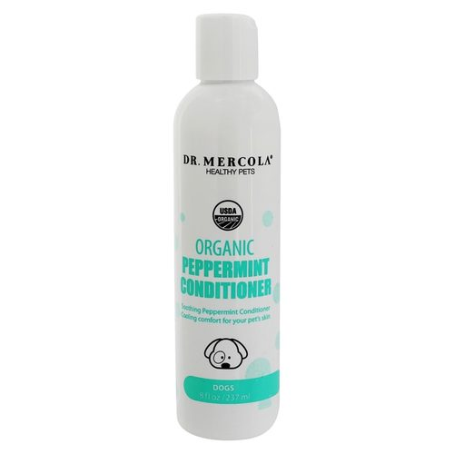 Dr. Mercola Organic Peppermint Conditioner for Dogs – 8 fl oz (237 ml)