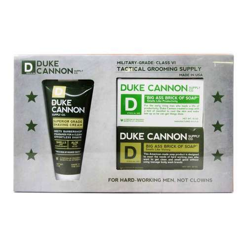 Duke Cannon Tactical Grooming Supply Gift Set With Shaving Cream – 3 Piece Set