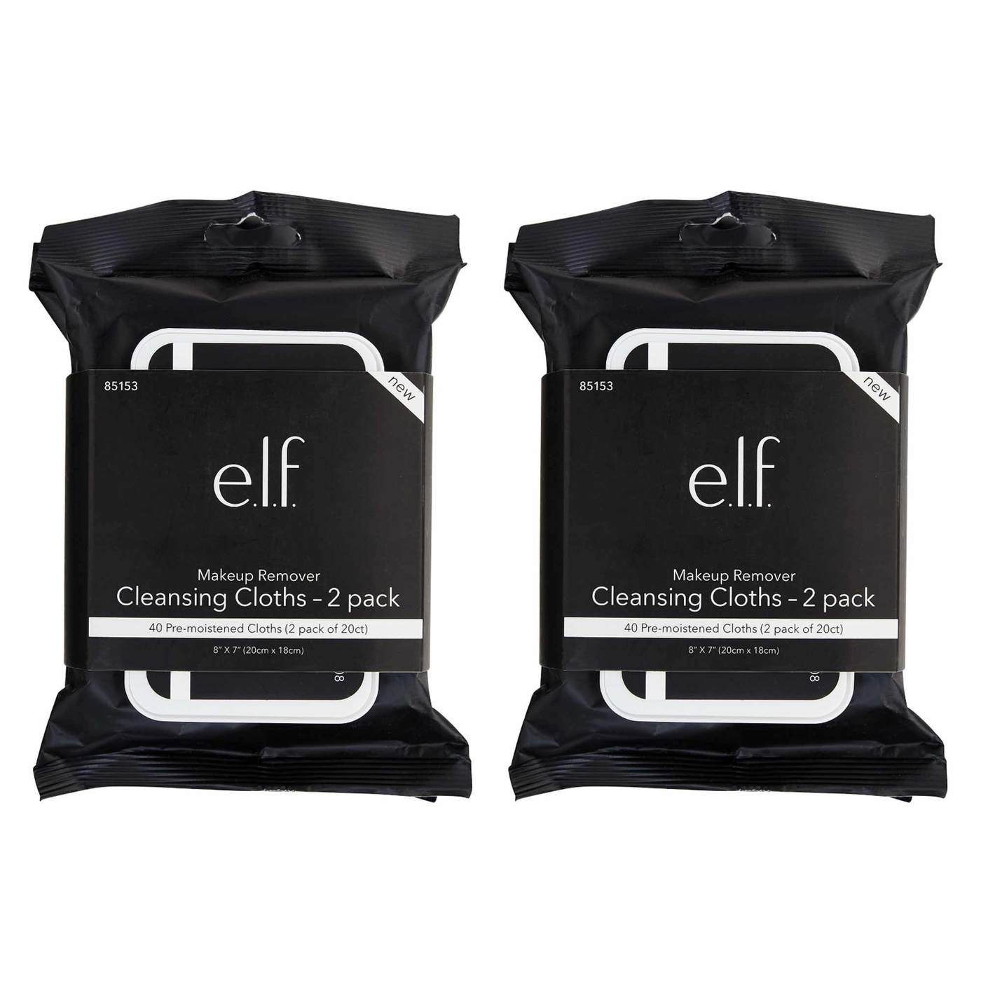 E.L.F. Makeup Remover Cleansing Cloths – 2 Pack – 20 Count
