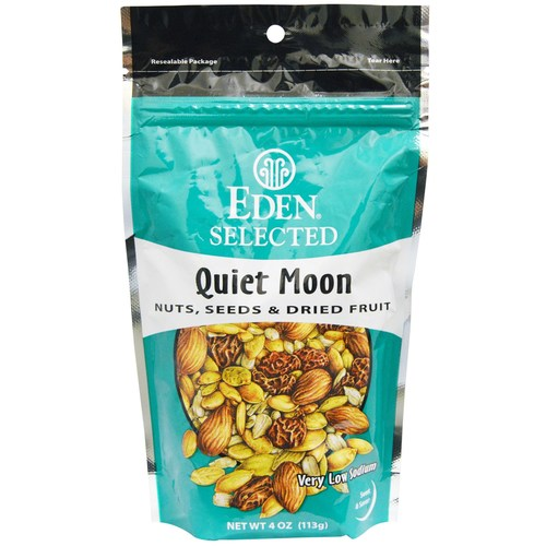 Eden Foods Organic Nuts and Fruits Variety – Quiet Moon – 4 oz Bag