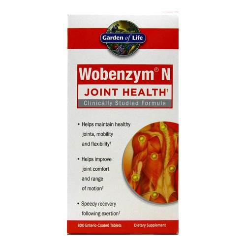 Garden of Life Wobenzym N – 800 Enteric-Coated Tablets