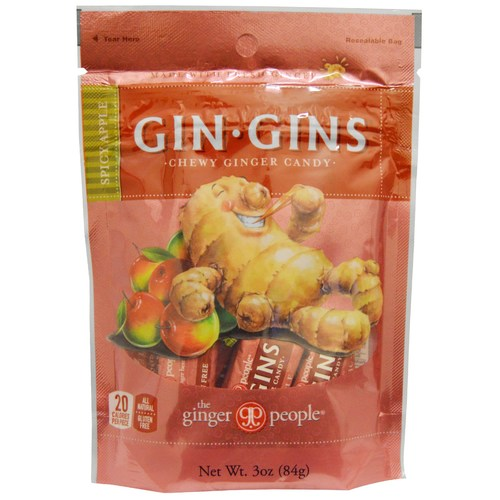 Ginger People Ginger Chews Spicy Apple – 24 – 3 oz bags
