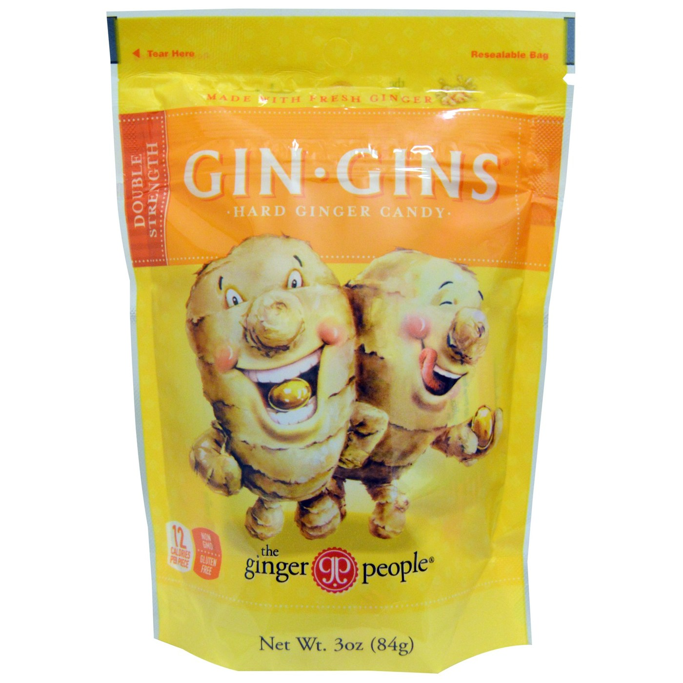Ginger People Gin-Gins Hard Ginger Candy – 24 – 3 oz bags