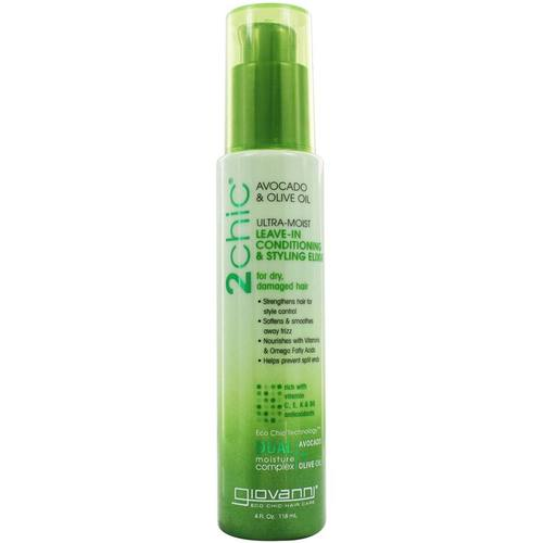 Giovanni Hair Care Products 2chic Ultra-Moist Leave-In Conditioning Styling Elixir Avocado & Olive Oil – 4 oz