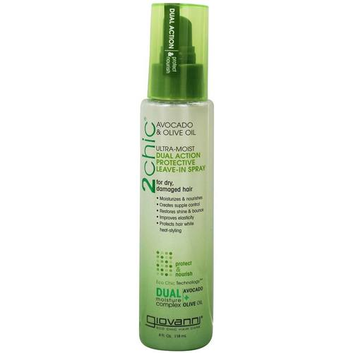 Giovanni Hair Care Products 2chic Ultra-Moist Dual Action Protective Leave-In Spray Avocado & Olive Oil – 4 oz