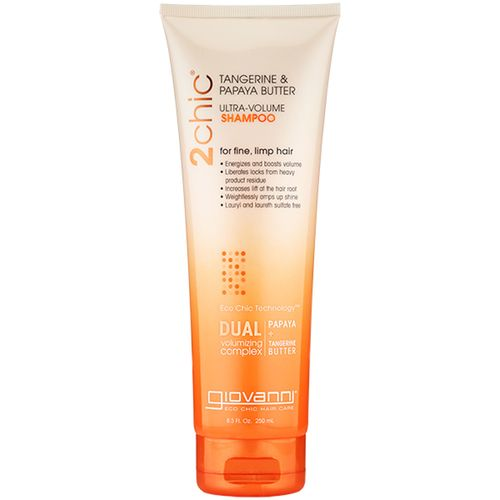 Giovanni Hair Care Products 2chic Ultra-Volume Shampoo Tangerine and Papaya Butter – 8.5 fl oz