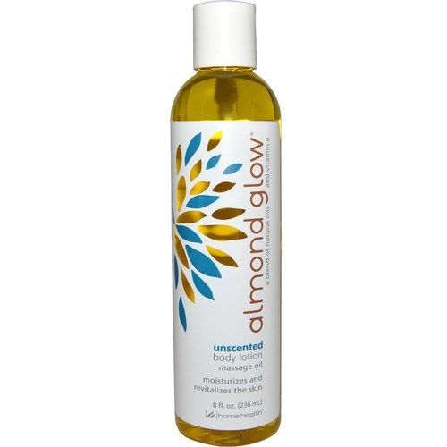 Home Health Products Almond Glow Skin Lotion Unscented – 8 oz