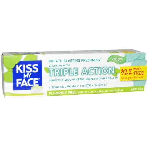 Kiss My Face Triple Action Aloe Vera Toothpaste Peppermint – 4.5 oz