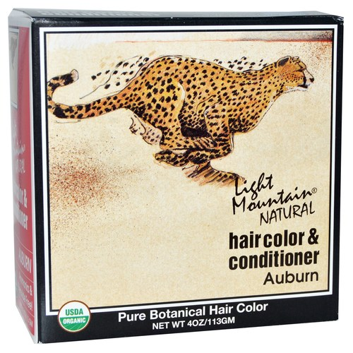 Light Mountain Natural Hair Color and Conditioner Auburn – 4 oz