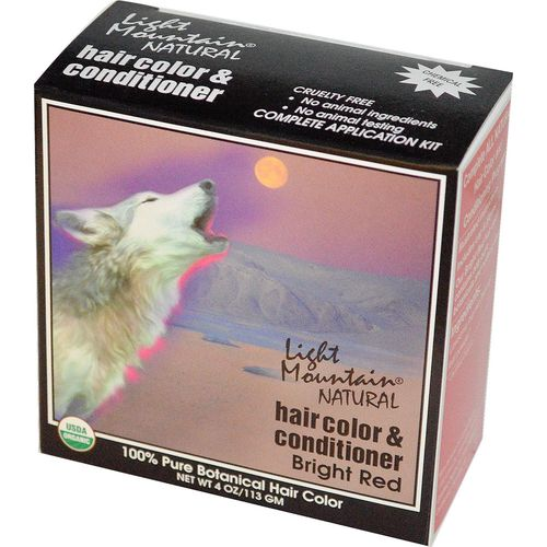 Light Mountain Natural Hair Color and Conditioner Red – Bright – 4 oz