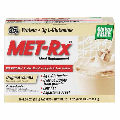MET-Rx Meal Replacement Protein Powder Vanilla – 40 packets