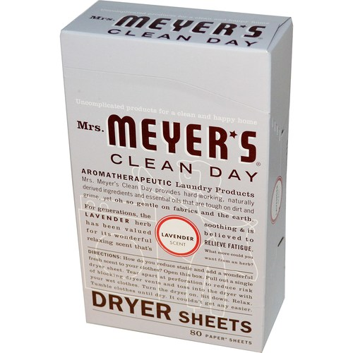 Mrs. Meyers Clean Day Dryer Sheets Lavender – 80 Sheets