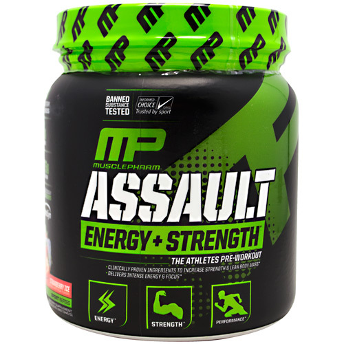 MusclePharm Assault Energy + Strength Pre-Workout Strawberry – 30 servings