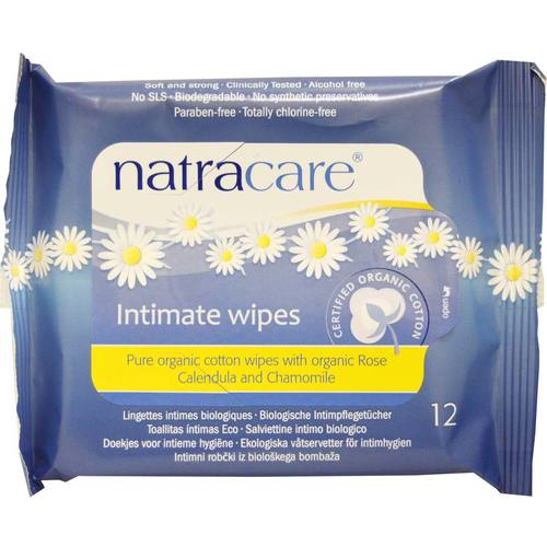 Natracare Organic Cotton Intimate Wipes – 12 Wipes