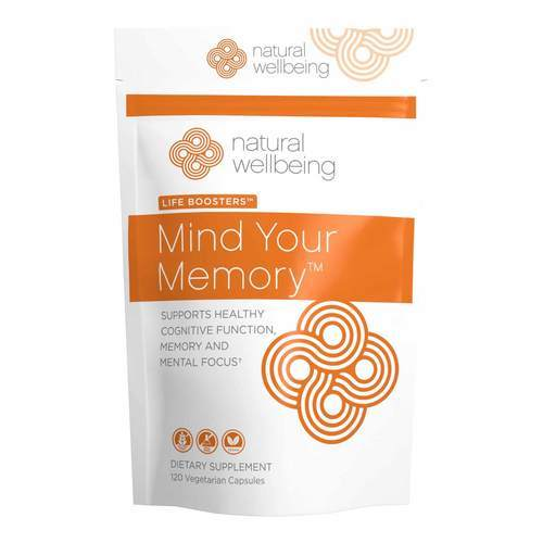 Natural Wellbeing Mind Your Memory – 120 Vegetarian Capsules