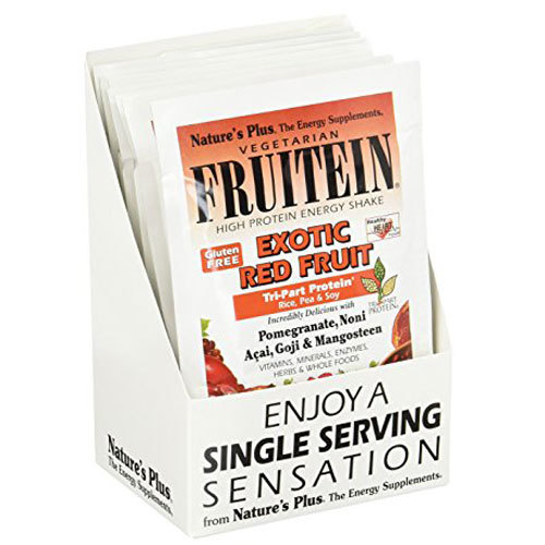 Nature's Plus Fruitein Shake Mix Exotic Red Fruit – 8 Packets