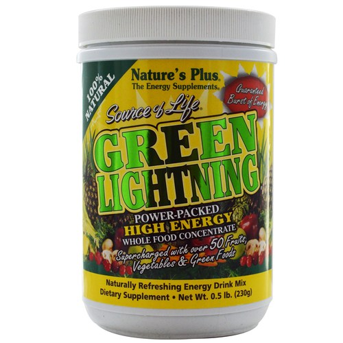 Nature's Plus Source of Life Power-Packed Whole Food Concentrate – Green Lightning- .5 lb Powder