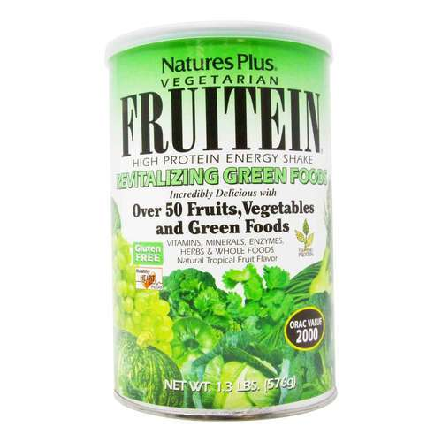 Nature's Plus Fruitein Tropical Fruit – Revitalizing Green Foods – 1.3 lbs (576 g)