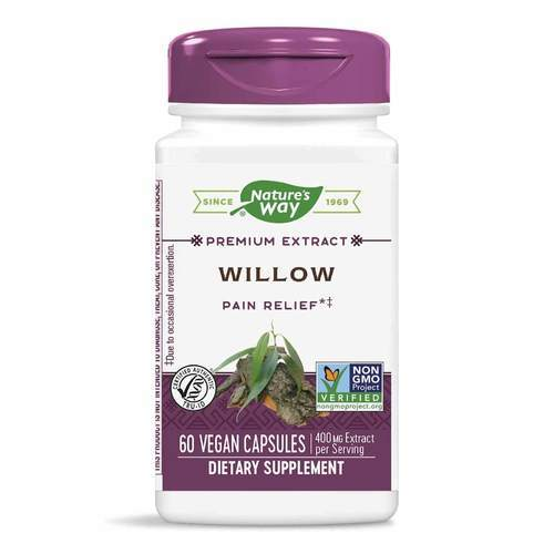 Nature's Way White Willow Standardized 400 mg – 60 Capsules