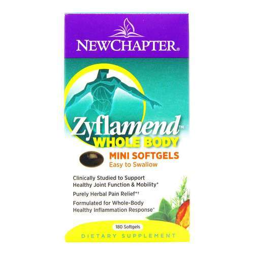 New Chapter Zyflamend Whole Body – East to Swallow Mini Soft Gels – 180 Softgels