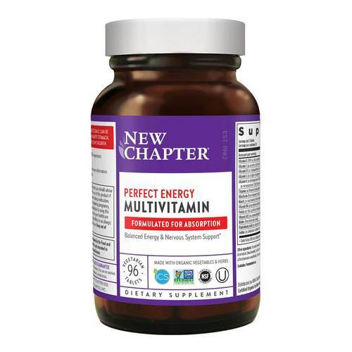 New Chapter Perfect Energy Multivitamin – 96 Vegetarian Tablets