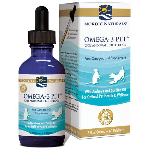 Nordic Naturals Omega-3 Pet Cats and Small Breed Dogs – 2 fl oz