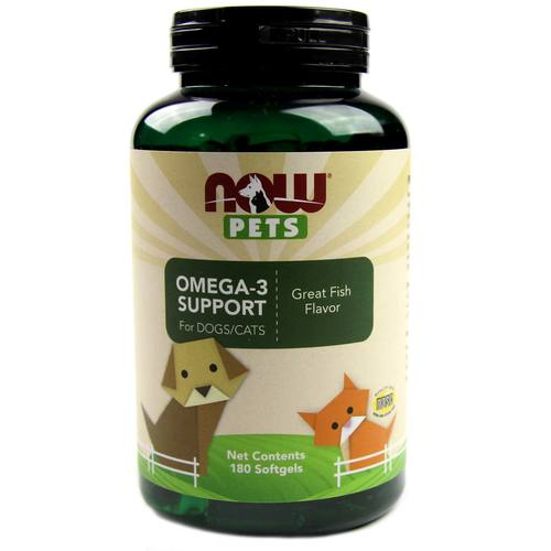 Now Foods Omega-3 Support for Dogs and Cats Fish – 180 softgels