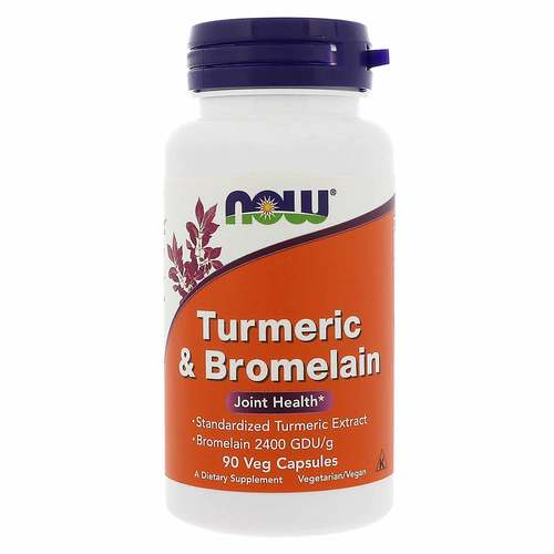 Now Foods Turmeric and Bromelain – 90 VCapsules