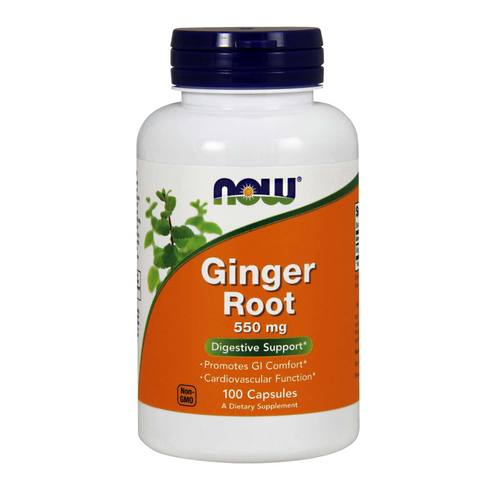 Now Foods Ginger Root 550 mg – 100 Caps