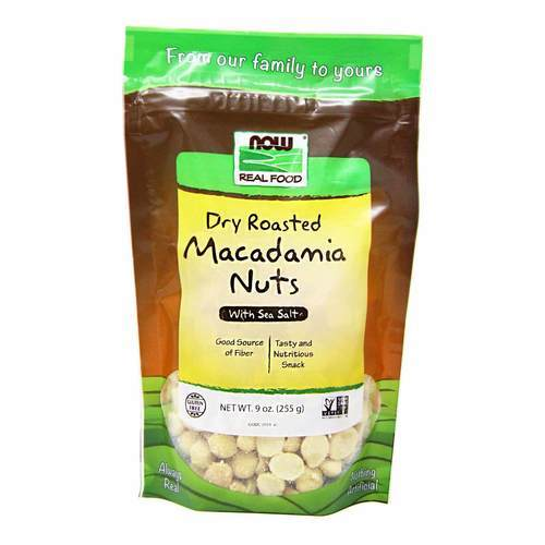 Now Foods Dry Roasted Macadamia Nuts Salted – 9 oz (255 g)