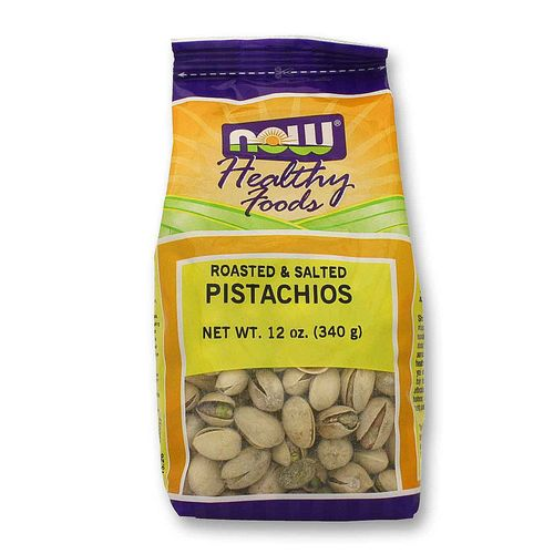 Now Foods Roasted Pistachios Salted – 12 oz