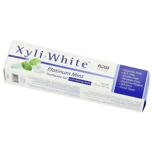 Now Foods XyliWhite Toothpaste Gel Platinum Mint – 6.4 oz