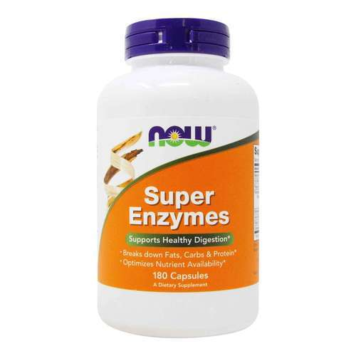 Now Foods Super Enzymes – 180 Capsules